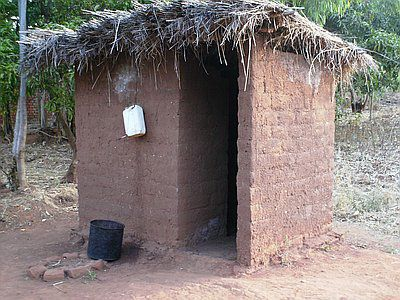 Elephant toilets in rural Liberia