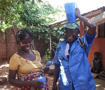 Water filters for families in Mozambique
